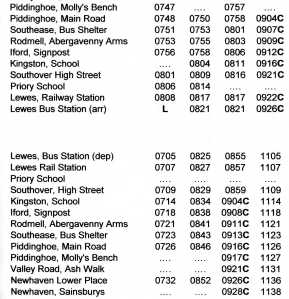 123 Bus timetable CLICK ON IMAGE TO ENLARGE